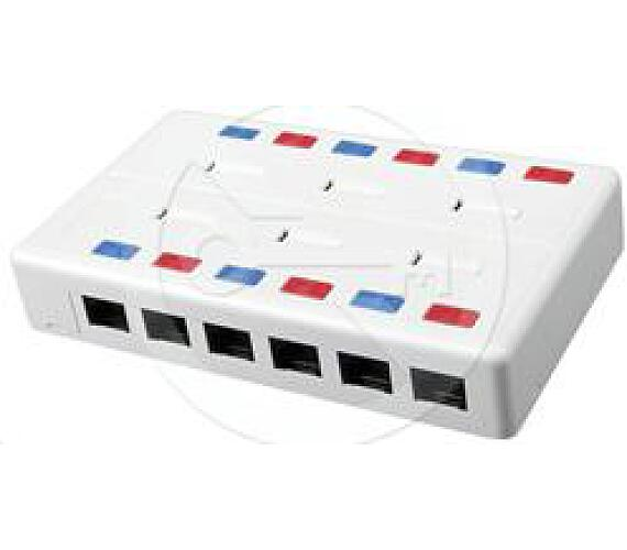 SOLARIX víceportový box CAT5E UTP 12 x RJ45 bílý SX12-5E-UTP-WH + DOPRAVA ZDARMA
