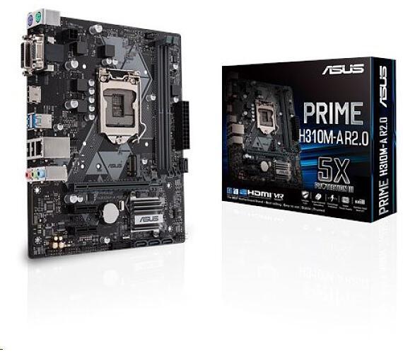 Asus PRIME H310M-A R2.0 soc.1151 H310 DDR4 mATX USB3 M.2 VGA DVI HDMI (90MB0Z10-M0EAY0)