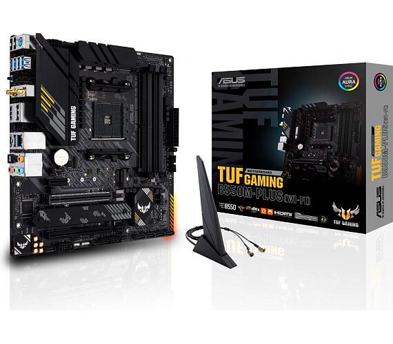Asus TUF GAMING B550M-PLUS (WIFI) soc.AM4 B550 DDR4 mATX M.2 HDMI DP WF BT (90MB1490-M0EAY0)