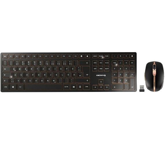 CHERRY set klávesnice a myši DW 9000 slim EU layout černá (JD-9000EU-2)
