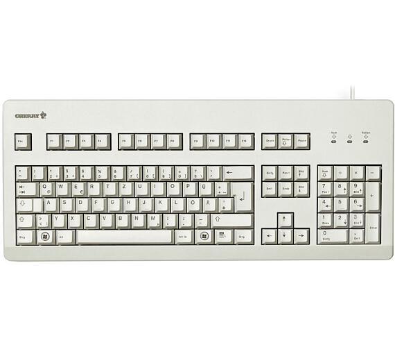 CHERRY G80-3000 BLACK SWITCH mechanická klávesnice EU layout bílá (G80-3000LPCEU-0)