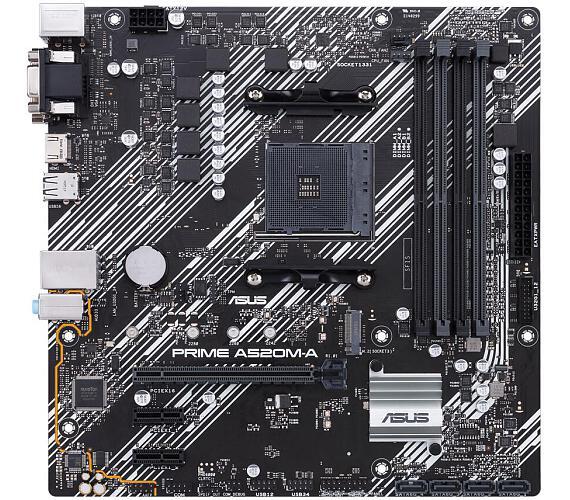 Asus PRIME A520M-A soc.AM4 A520 DDR4 mATX M.2 D-Sub DVI HDMI (90MB14Z0-M0EAY0) + DOPRAVA ZDARMA