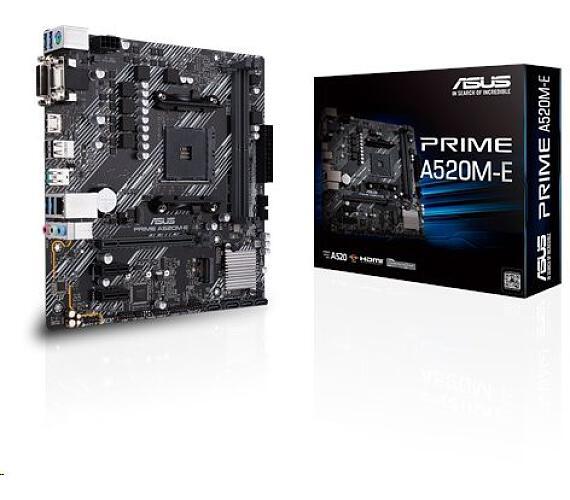 Asus PRIME A520M-E soc.AM4 A520 DDR4 mATX M.2 D-Sub DVI HDMI (90MB1510-M0EAY0)