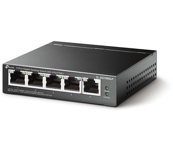 TP-Link TL-SG1005LP 5xGb (4POE+) 40W Desktop Steel Switch