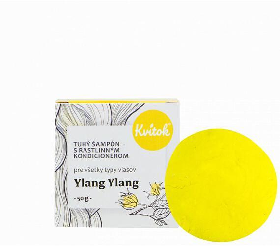 Kvitok Tuhý šampon s kondicionérem pro světlé vlasy Ylang Ylang XXL (50 g) - krásně pění
