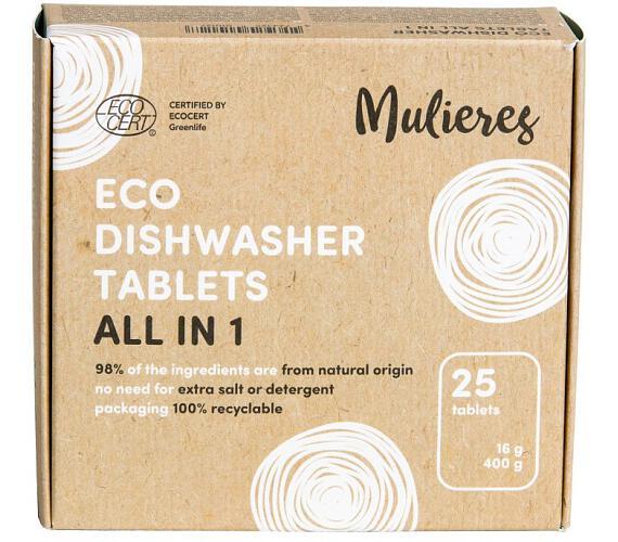 Mulieres Tablety do myčky - vše v jednom BIO (25 ks) - s certifikací ecocert
