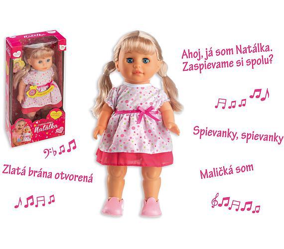 Panenka Natálka chodiaci a slovensky spievajúc plast 42cm na batérie so zvukom v krabici 21x44x11cm + DOPRAVA ZDARMA