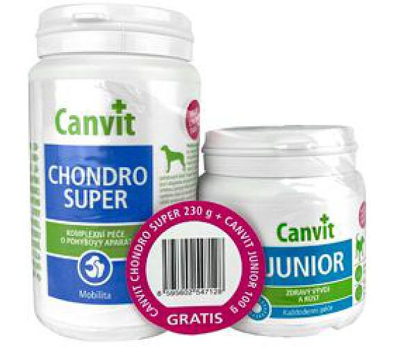Canvit Chondro Super 230g+Canvit Junior pro psy 100g