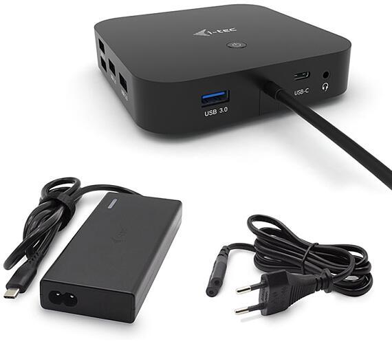 I-TEC USB-C Dual Display Docking Station with Power Delivery 65W + i-tec Universal Charger 77 W (C31DUALDPDOCKPD65W)
