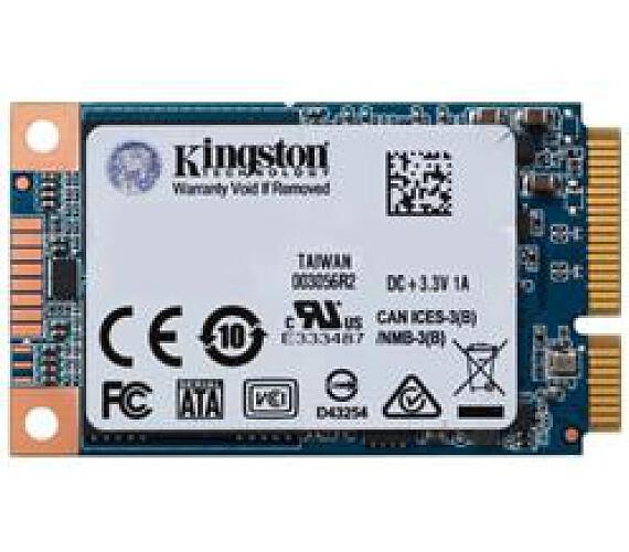Kingston SSD 480GB UV500 SATA III mSATA 3D TLC 7mm (čtení/zápis: 520/500MB/s; 79/35K IOPS) (SUV500MS