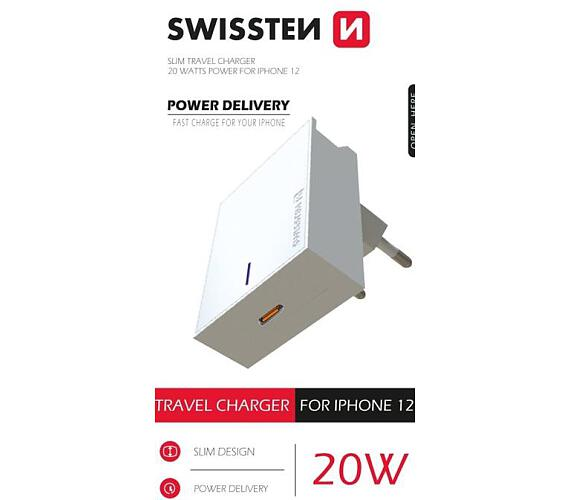Swissten SÍŤOVÝ ADAPTÉR PD 20W FOR IPHONE 12 BÍLÝ (22050600)