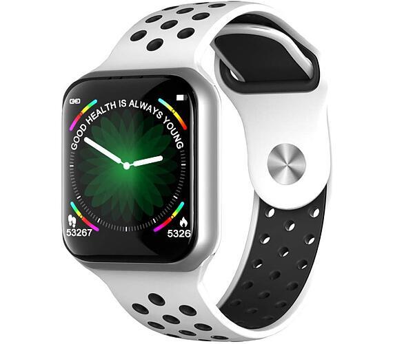 "IMMAX chytré hodinky SW13 PRO/ 1.3"" dotykový TFT LCD/ BT/ IP67/ Android 2.3 / iOS 4.0 a vyšší/ čeština/ bílo-stříbrné (09037)"