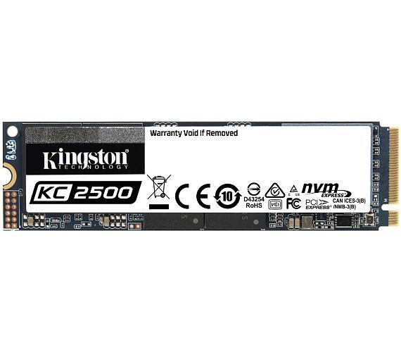 Kingston KC2500 1TB SSD / Interní / M.2 2280 / PCIe NVMe Gen3x4 TLC (SKC2500M8/1000G)