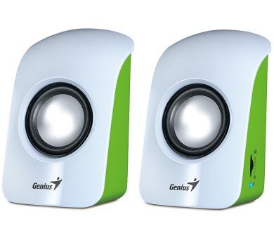 Genius SP-U115 2.0 - bílá/zelená