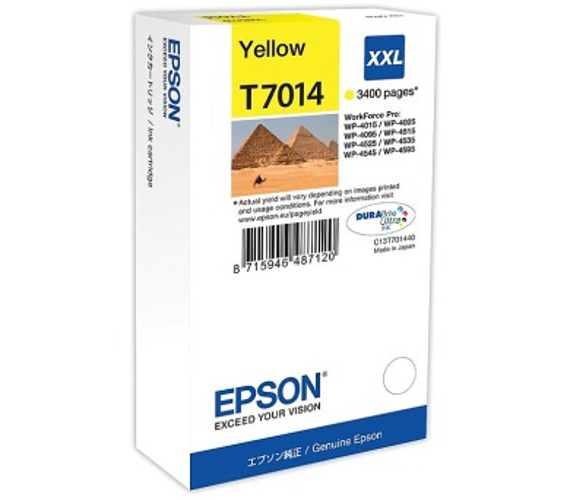 Epson WP4000/4500 Series Ink Cartirdge XXL Yellow 3.4k