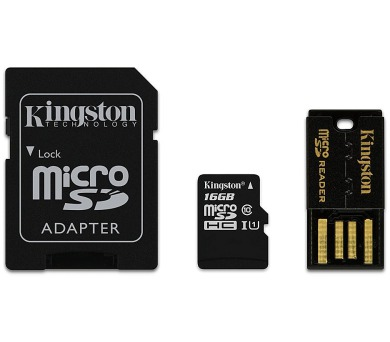 KINGSTON Mobility Kit 16GB microSDHC / CL10 / + SD adaptér + USB čtečka (MBLY10G2/16GB)