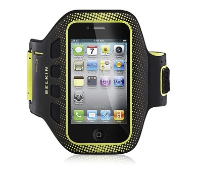 Belkin EaseFit Armband pro iPhone 4/4S - černé/zelené + DOPRAVA ZDARMA