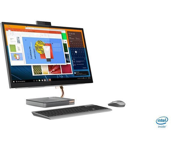"Lenovo IdeaCentre AIO 5 27IMB05 i5-10400T 3,60GHz/1GB/SSD 1TB/27"" QHD/IPS/250nitů/GeForce1650 2GB/WIN10 stříbrná (F0FA0044CK)"