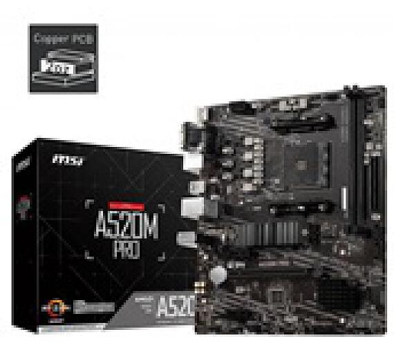 MSI MB Sc AM4 A520M PRO