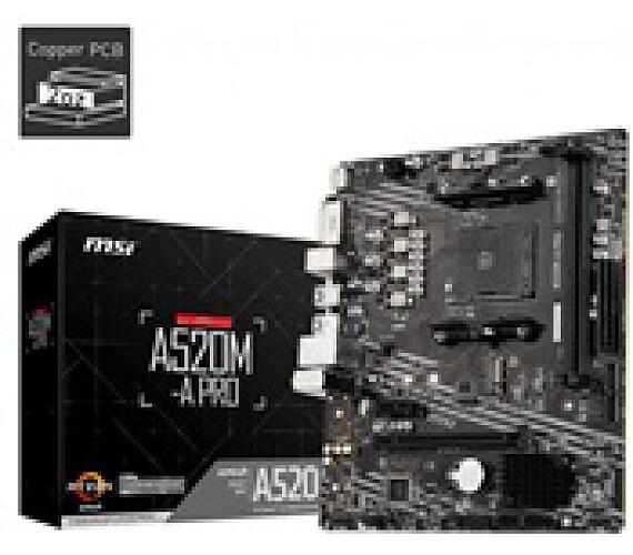 MSI MB Sc AM4 A520M-A PRO