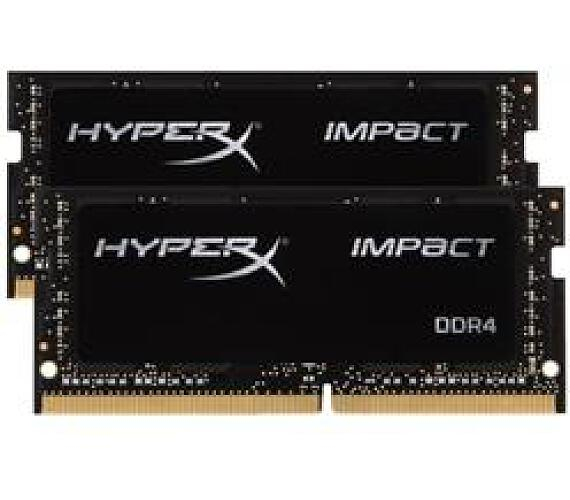 Kingston DDR4 32GB (Kit 2x16GB) HyperX Impact SODIMM 2666MHz CL16 černá (HX426S16IB2K2/32)