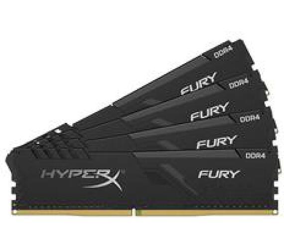 Kingston DDR4 64GB (Kit 4x16GB) HyperX FURY DIMM 3200MHz CL16 černá (HX432C16FB4K4/64)