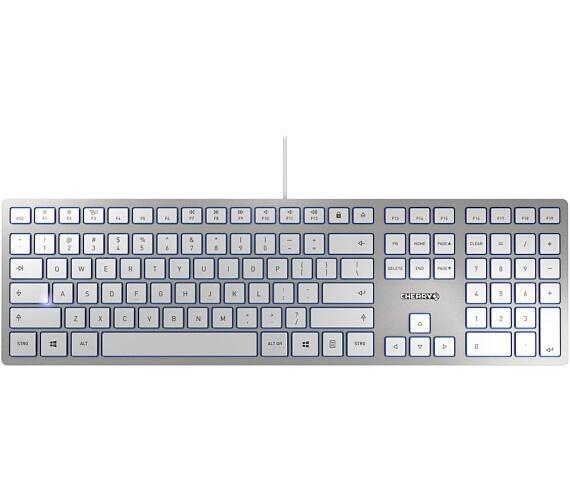 CHERRY klávesnice KC 6000 Slim EU layout stříbrná (JK-1600EU-1)