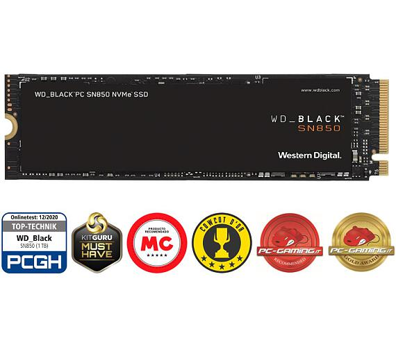 WD SSD BLACK SN850 1TB / WDS100T1X0E / NVMe M.2 PCIe Gen4 / Interní / M.2 2280