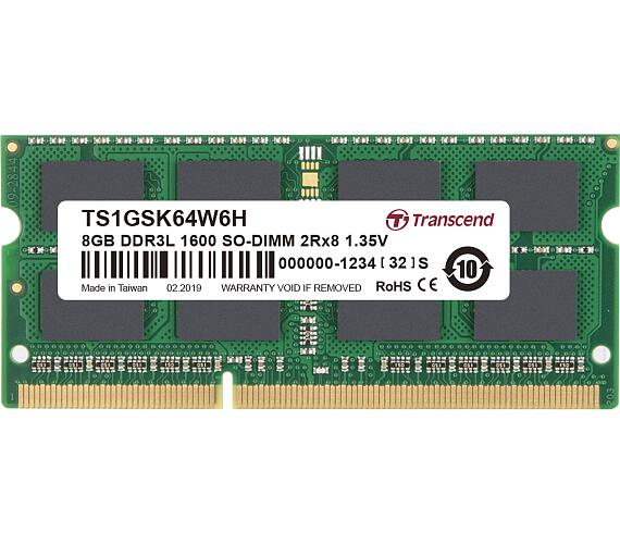 Transcend TS1GSK64W6H 8GB DDR3L 1600 SO-DIMM 2Rx8