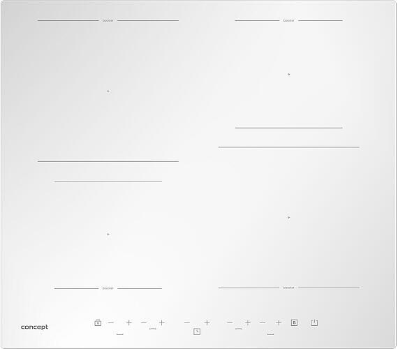 Concept IDV4260wh Indukční deska vestavná 60 cm + DOPRAVA ZDARMA