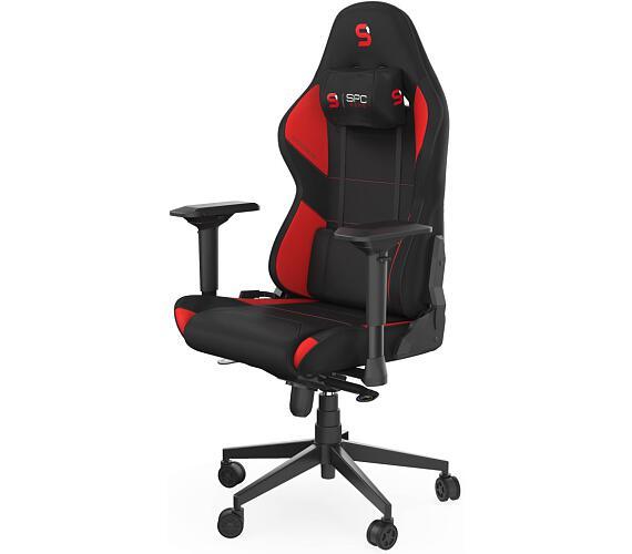 SPC Gear SR600F RD herní židle textilní černočervená (SPG087)