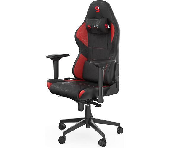 SPC Gear SR600 RD herní židle imitace kůže černočervená (SPG085) + DOPRAVA ZDARMA
