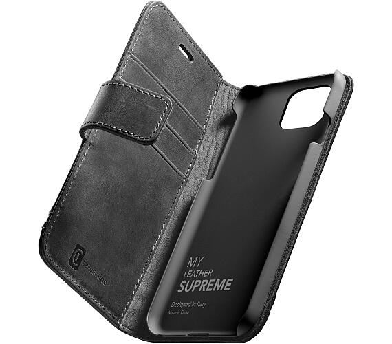 CellularLine Prémiové kožené pouzdro typu kniha Cellularine Supreme pro Apple iPhone 12/12 Pro