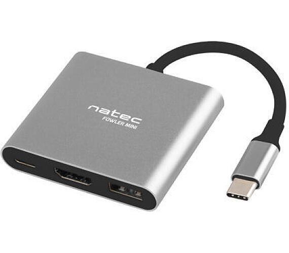 NATEC multifunkční adaptér Fowler MINI USB-C PD