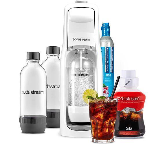 SodaStream JET WHITE + Lahev DuoPack 1l + Příchuť COLA 500ml + DOPRAVA ZDARMA