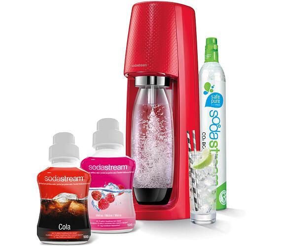 SodaStream Spirit Red + sirup malina + Cola 500ml + DOPRAVA ZDARMA