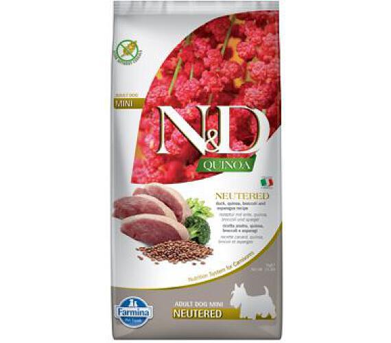 N&D Quinoa DOG Neutered Duck&Broccoli&Asp. Mini 7kg