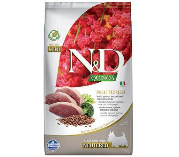 N&D Quinoa DOG Neutered Duck&Broccoli&Asp. 2,5kg