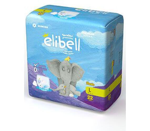 Plenkové kalhotky dětské Elibell L 9-14kg 22ks