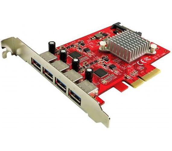 KOUWELL UB-155 / řadič pro 4x USB 3.1 Gen 2 Type-A / PCIe / napájení 5V2A /