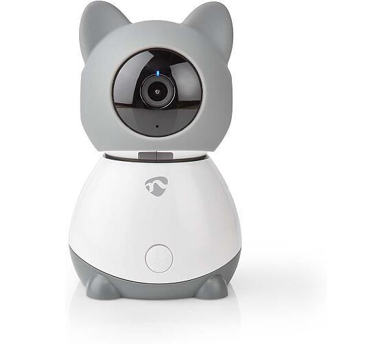 NEDIS IP kamera/ Wi-Fi/ 1080p/ Micro SD/ Cloud/ snímač pohybu/ náklon/ noční vidění/ Android/ iOS/ šedo-bílá (WIFICI30CGY) + DOPRAVA ZDARMA