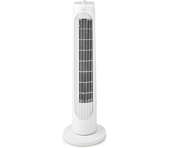 Sloupový Ventilátor | Výška: 760 mm | 3-Rychlostní | Rotace | 50 W | Bílá + DOPRAVA ZDARMA