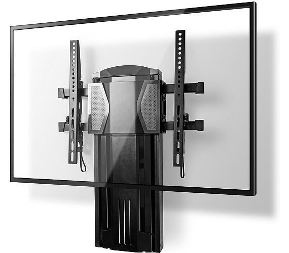 """Vertikální Nástěnný TV Držák / 37-60 """" / Maximální podporovaná hmotnost obrazovky: 20 kg / Vertikální pohyb: 0-400 mm / 85 mm / 85 mm / 1 Otočný Bod / ABS / Ocel / Černá + DOPRAVA ZDARMA"""