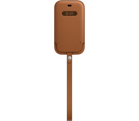 iPhone 12ProMax Leather Sleeve wth MagSafe S.Brown (MHYG3ZM/A)