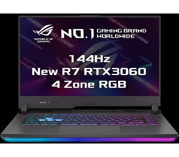 """Asus ROG Strix G513QM-HN064T 15,6"""" FHD/IPS/144Hz/AMD Ryzen7/2x8GB/512GB SSD/RTX 3060 6GB/W10 Home/Šedý/2r Pick-Up&Return + DOPRAVA ZDARMA"""