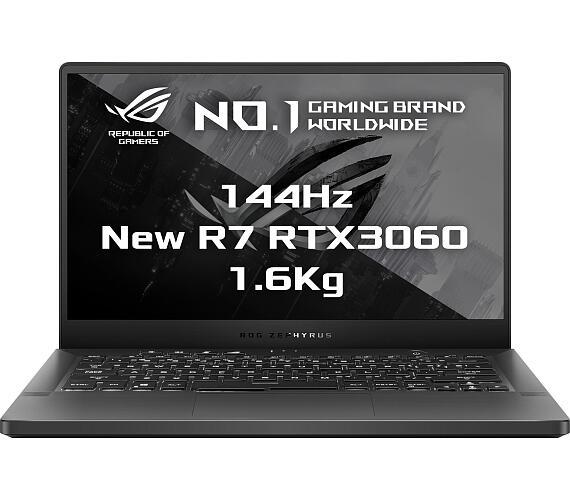 "Asus ROG Zephyrus G14 - 14""/R7-5800HS/8G*2/1T PCIE/RTX3060/W10H (Gray/Aluminum) + ROG záruka (GA401Q"