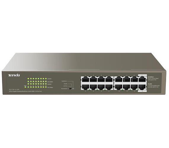 Tenda TEG1116P-16-150W PoE AT Gigabit switch 16x 1Gb/s s PoE 802.3af/at