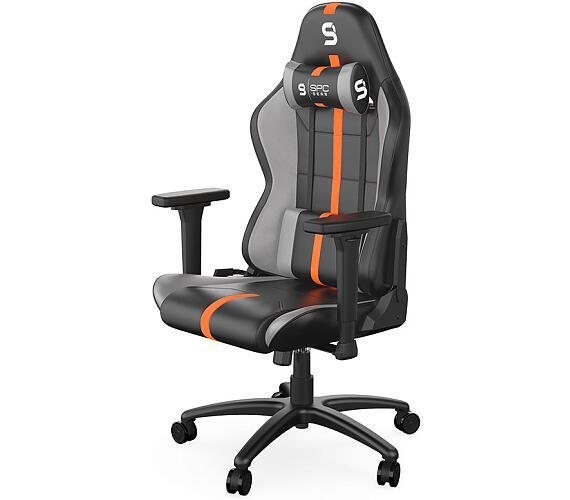 SPC Gear SR400 OR herní židle imitace kůže černooranžová (SPG102) + DOPRAVA ZDARMA