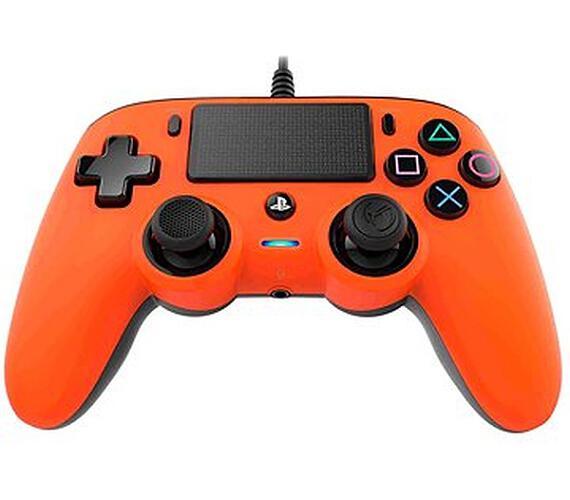 Nacon Wired Compact Controller - orange (PS4) + DOPRAVA ZDARMA