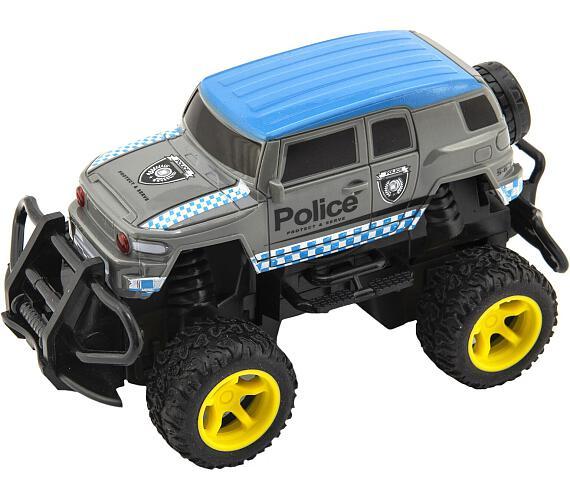 Auto RC policie terénní plast 16cm na baterie v krabici 19x14x13cm
